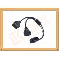 OBD 16 Pin Automotive Extension Male To Female Cable Y Type CK-MF16Y02L Manufactures