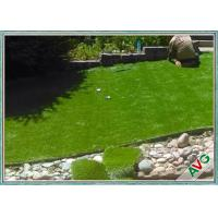 Natural Soft Feeling Garden Artificial Grass , Fire Resistance Garden Turf Manufactures