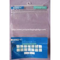 Advertisement Recyclable Plastic Bags With Hangers Customized Manufactures
