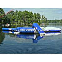 Custom Durable Inflatable Water Trampoline Games , Inflatable Combo Bouncers Manufactures