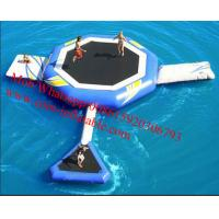 Inflatable Water Park Games Inflatable Floating Water Trampoline for sale Manufactures
