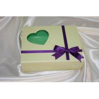 10 * 6 * 3 Inch Cardboard Folding Decorating Gift Boxes With Ribbon, Pvc Window Manufactures