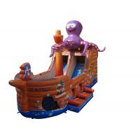 Octopus Pirate Ship Large Inflatable Slide For Adult Amusement Park Manufactures
