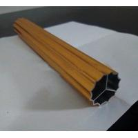 Above 0.6mm Fantastic finish extruded golden anodized aluminum profile for clothes hanger Manufactures