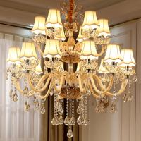 Modern crystal chandelier lighting Fixtures with lamshade (WH-CY-05) Manufactures