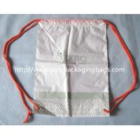 PersonalizedPlastic Gift Packaging White Drawstring Backpack Custom Manufactures