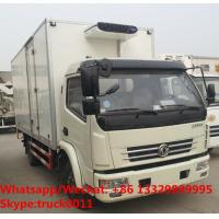 wholesale good price dongfeng 4*2 RHD 6tons 120hp refrigerated truck with CARRIER reefer for fresh fruits and vegetables Manufactures