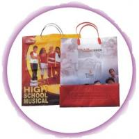 Side Gusset Bag Custom Plastic Shopping Bags With Handles Manufactures