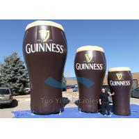 Quality Digital Printing Inflatable Bottles / Giant Inflatable Cups with PVC Tarpaulin for sale