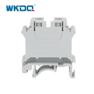 Nylon PA66 2.5mm Screw Din Rail Terminal Block 800V 32A Manufactures