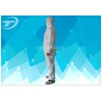 Durable Non Woven Fabric Disposable Coverall Suit White Chemical Resistant Coveralls Manufactures