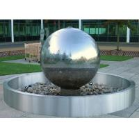 Stainless Steel Ball Water Feature / Stainless Steel Sphere Water Features For The Garden  Manufactures