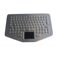 IP65 Vandal Proof Stainless Steel Keyboard Touchpad For Ruggedized Computer Manufactures