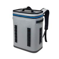 600D Polyester Grey Food Delivery Lunch Bag 24 Cans Wine Insulated Cooler Backpack Manufactures