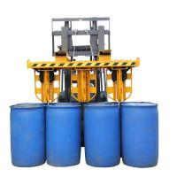 Hydraulic Clamp Stacker for Crane And Forklift 6 Drums Once , Drum Forklift Attachment Manufactures