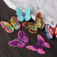 Small Butterfly Iron On Embroidered Applique Patches Cloth Badge For Clothes Customized Manufactures