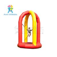 5 meter high airtight kids single inflatable bungee jump trampoline with 0.9mm pvc tarpaulin