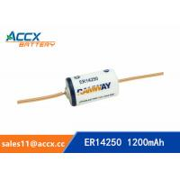 ER14250 with tabs, axis, 3.6V 1200mAh lithium thionyl chloride battery Manufactures