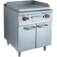 Stainless Steel Hotel Commercial Electric Griddle With Oven For Natural Gas Manufactures