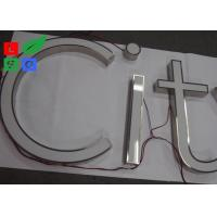 Quality Anti Rust LED Front Lit Channel Letters , Stainless Structure Light Up Sign for sale