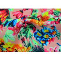 Twill Polyester Fabric / Patterned Printed Polyester With Heat Transfer Manufactures