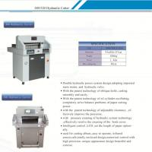 480mm  Hydraulic Paper Cutting Machine  for Photo Paper, PVC, Cardboard / Hydraulic Paper Cutter / Manufactures