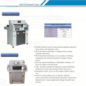 China 480mm  Hydraulic Paper Cutting Machine  for Photo Paper, PVC, Cardboard / Hydraulic Paper Cutter / on sale