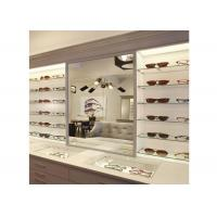 Sunglasses Shop Wall Mounted Display Cabinets With Clear Termpered Glass Shelf Manufactures