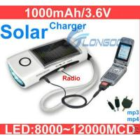 Buy cheap Multi Function Solar LED Flashlight Radio Phone Charger from wholesalers