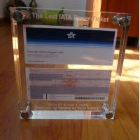 Transparent / Black / White Acrylic Photo Frames With Color UV Printed Manufactures