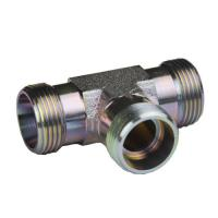 Cone Pipe Equal Tee Fitting  Din 3865 Carbon Steel Zinc Surface Treatment Manufactures