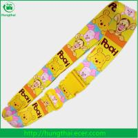 China custom sublimation printed polyester luggage belt with plastic buckle on sale