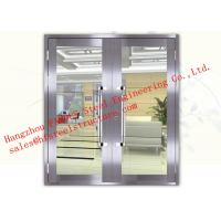 Buy cheap Galvanized Steel with Fireproof Glass Fire Rated Double Doors For Shopping Mall from wholesalers