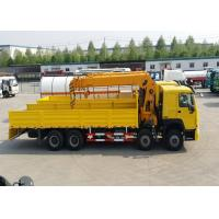 China 8x4 50 - 60 Tons Truck Mounted Crane SINOTRUK HOWO Chassis 266HP Engine on sale