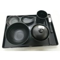Quality Imitation Porcelain Dinnerware Sets Japanese And Korea Series Tableware Black Melamine for sale