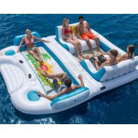 Quality Direct supplier wholesale huge 6 person inflatable water floating island floating lounge raft for sale
