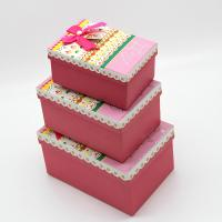 China Rectangle gift box 3pcs set, customized cardboard box on sale