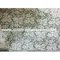 knitted Embellished Net Lace Fabric Comfortable Beautiful With Polymide Mesh Manufactures