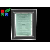 Quality PMMA Material Thin LED Light Box , Hided Cable Crystal Light Box For Barber Shop for sale