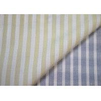 Woven Technics Blended Striped Jacquard Fabric Soft Touch For Dress Manufactures