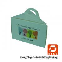 Eco Friendly Folding Cake Packaging Boxes , Single Triangle Cake Boxes With Handles Manufactures