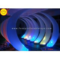 Shiny Inflatable LED Ivory Inflatable Advertising Colorful Lighting Event Party Tusk Oxford Decorative Cresent Balloon Manufactures