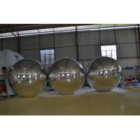 PVC Siliver Inflatable Disco Ball For Stage Decoration / Bachelor Party Manufactures