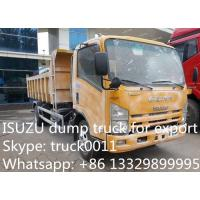 ISUZU LHD 4*2 double rows 3ton-5tons mini dump truck for sale, hot sale best price JAPAN brand ISUZU Brand dump tipepr t Manufactures
