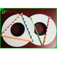 Buy cheap 13.5MM 14MM Stripe Printable White Straw Paper roll Material For Making Straws from wholesalers