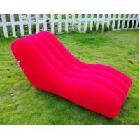Pink Outdoor PVC Modern Inflatable Furniture Office Blow Up Sofa Manufactures