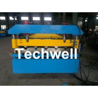 Iron Metal Roof Sheet Roll Forming Machine With Manual Or Hydraulic Uncoiler Manufactures
