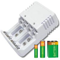 Portable Smart Battery Charger For Alkaline , NiCd , NIMH Batteries Manufactures