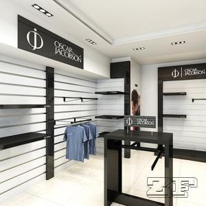 Wooden Display Design Sports Garments Showroom display Manufactures