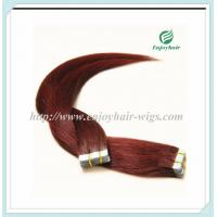 "Tape Hair extension 16""-28""L,100s/pack 99J# color Straight malaysian virgin hair Manufactures"